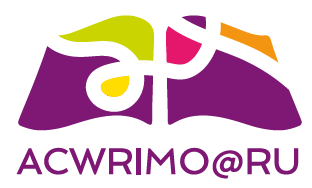 AcWriMo@RU –  Academic Writing Month Logo